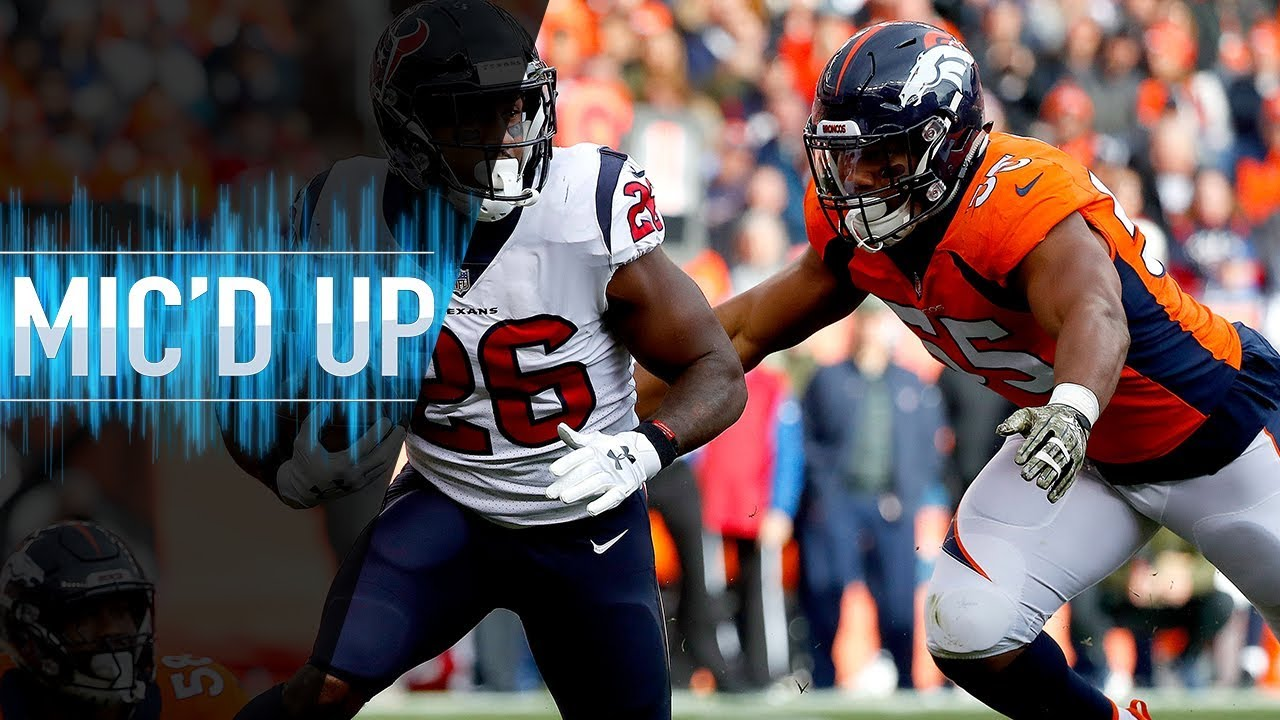 "Bradley Chubb Mic'd Up vs. Texans ""My mouth was open. You made me bite my tongue!"" 