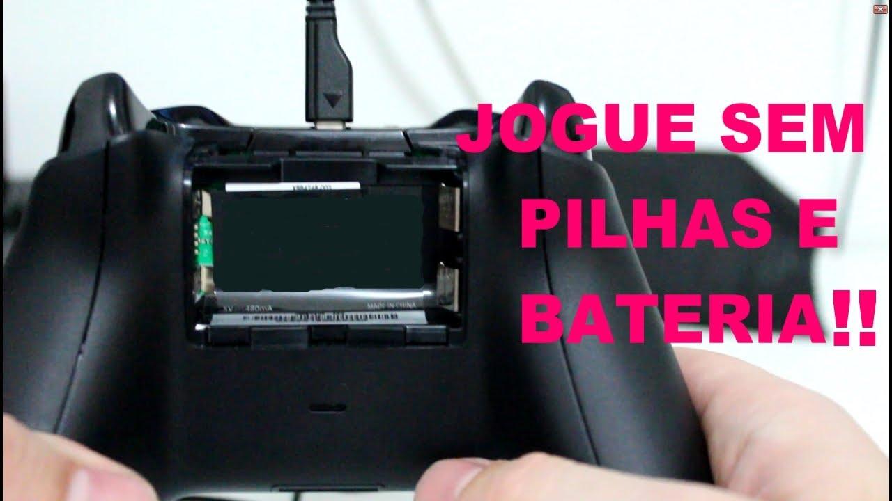 Xbox One Como Jogar Sem Pilhas E Bateria No Controle