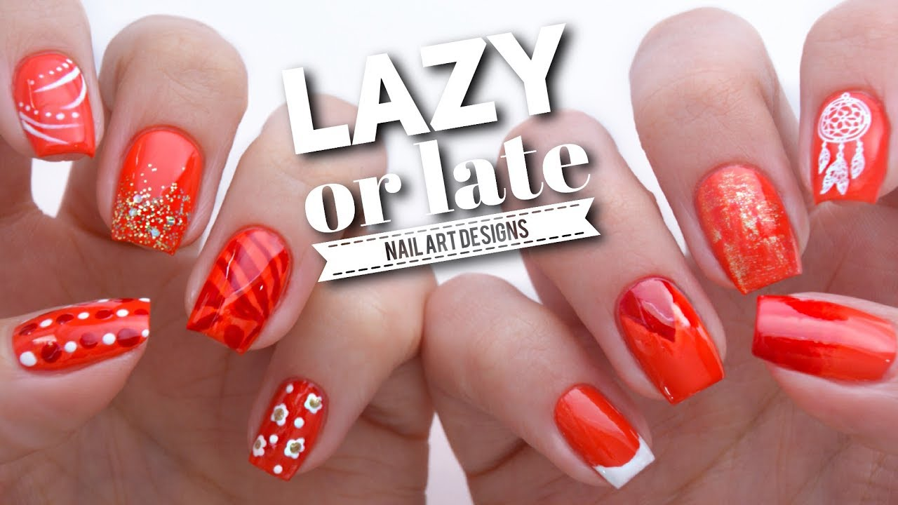 10 Quick Nail Art Ideas If Youre Lazy Or Late Youtube