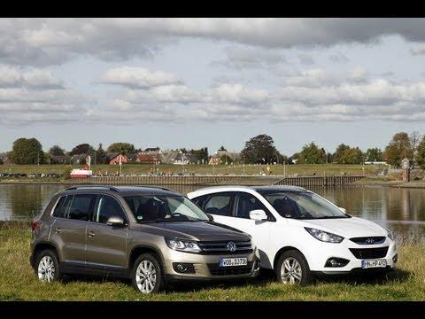 VW Tiguan vs. Hyundai ix35 K f um die SUV Krone