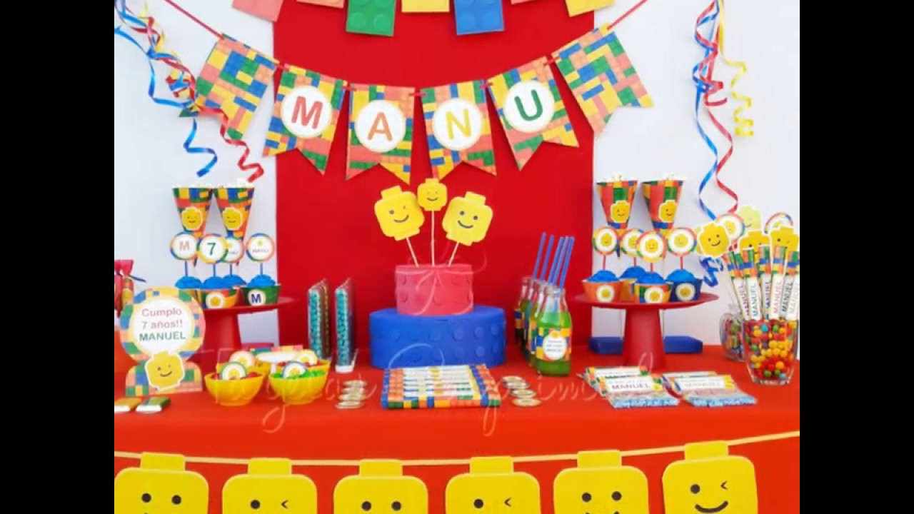 Ideas para fiestas tem ticas lego decoraci n candy bar youtube - Ideas decoracion bar ...