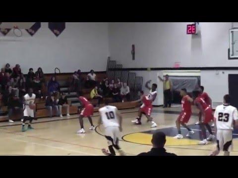 West Babylon Boys Varsity Basketball vs Hills West Jan. 28, 2016