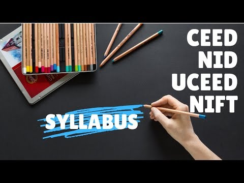 Syllabus for NID/CEED/UCEED exam-Part-A?