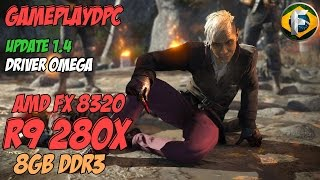 Far Cry 4 Benchmark R9 280X  ULTRA 1.4 Update / AMD Catalyst Omega