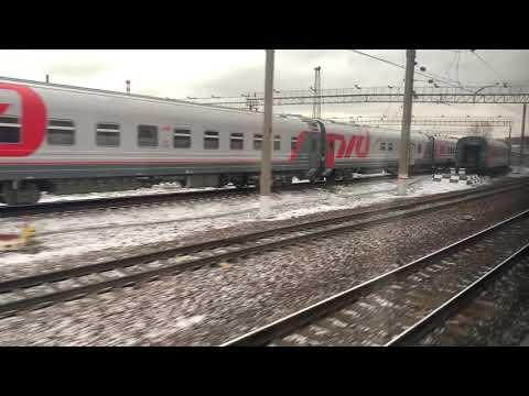 Новая платформа Москва-Товарная-Павелецкая 04.12.2019. Вид из окна пригородного поезда