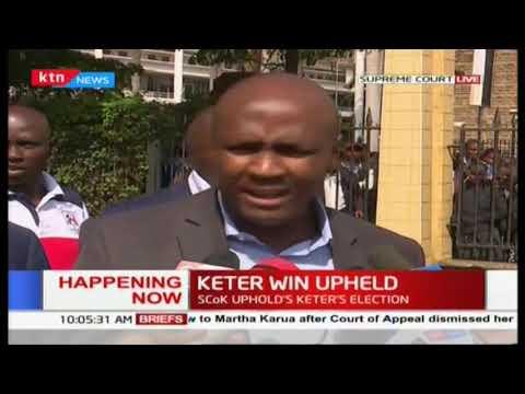 Nandi Hills MP Alfred Keter's win upheld