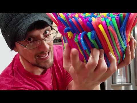 DIY Ba Chair of Straws!  FUNnel Vision Gets Soggy Vlog