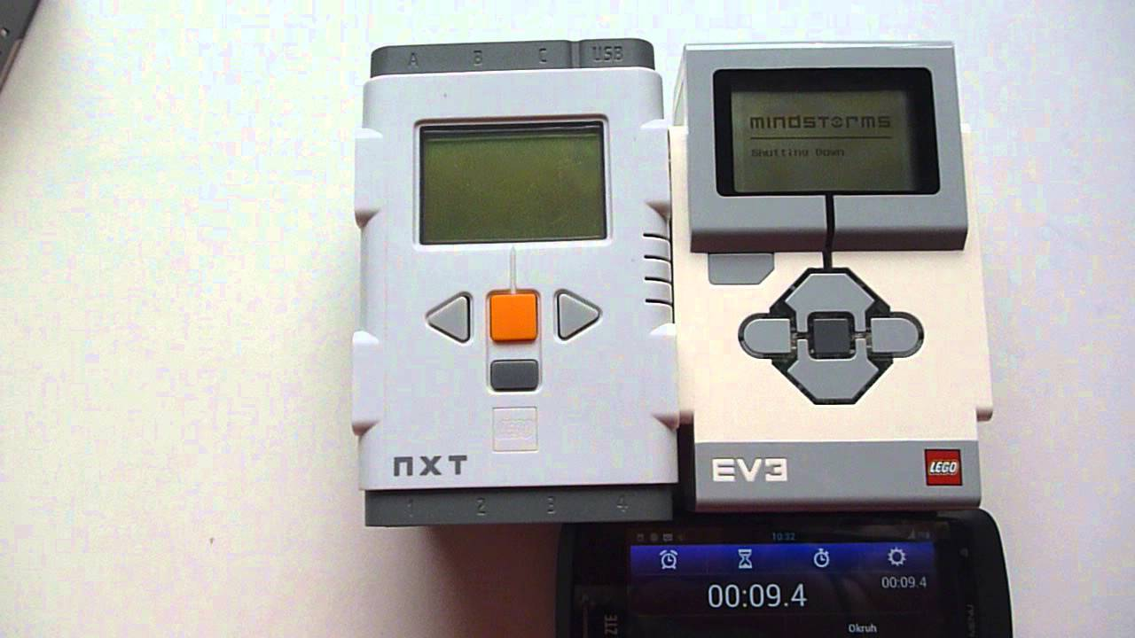 Lego Brick: NXT vs EV3 - start up and power down
