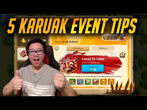 5 Official Tips You Should Know about Karuak Challenge | Rise of Kingdoms