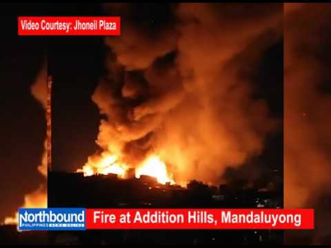 Fire at  Addition Hills, Mandaluyong