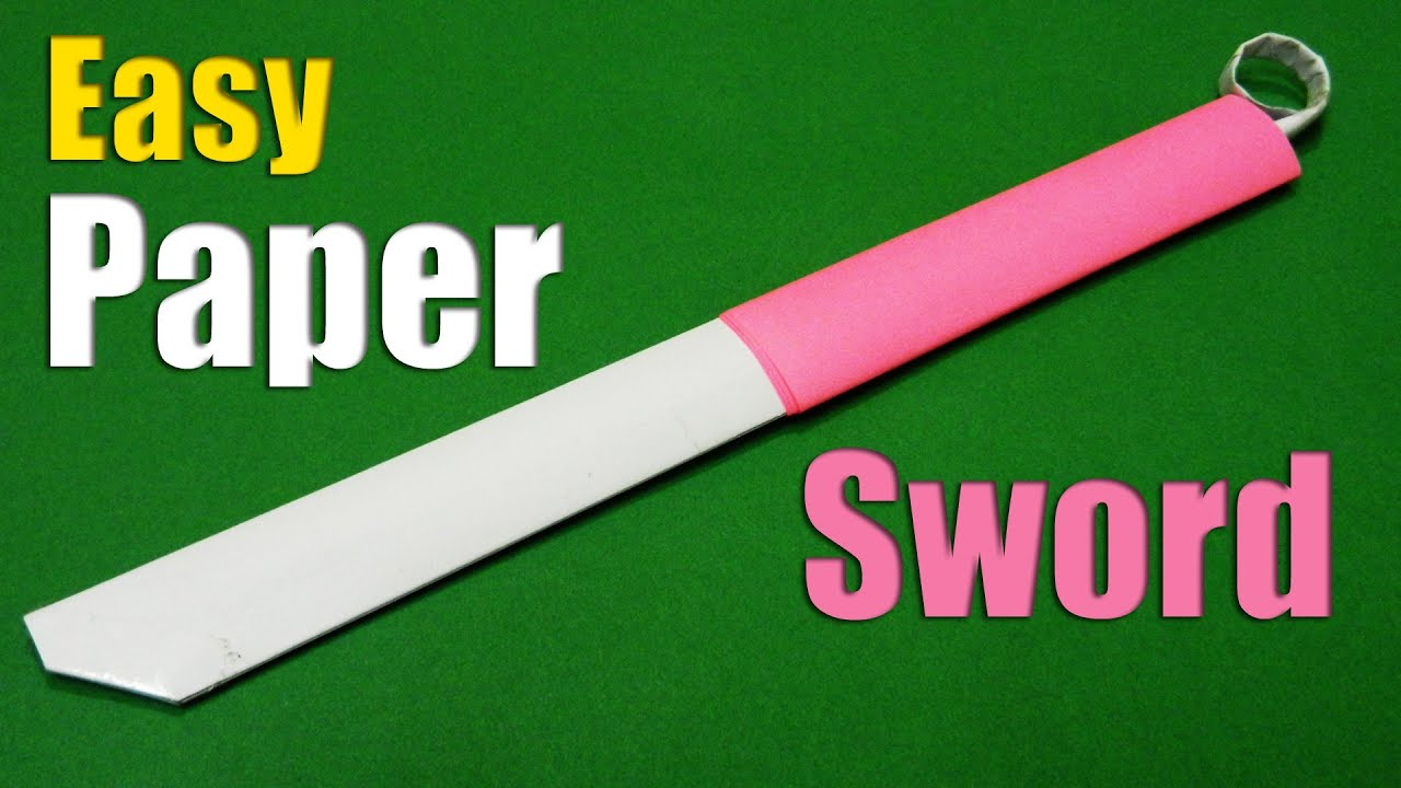 How to make an easy Paper Sword | Paper Sword | Tutorial ... - photo#13