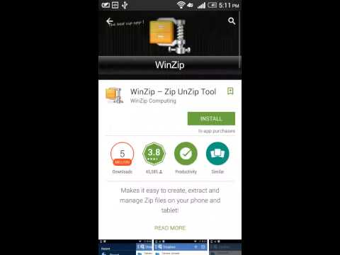 how to install zip file in android phone