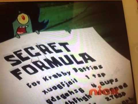 Real Krabby Patty Secret Formula What is the kra...