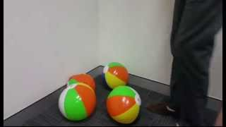 Stomping Multi Beach Balls