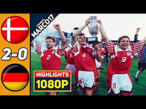 🔥 Дания - Германия 2-0 - Обзор Матча Финал Чемпионата Европы 26/06/1992 HD 🔥
