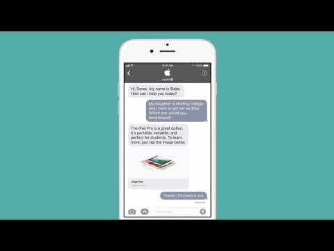 Apple to take on messaging rivals with launch of Business Chat