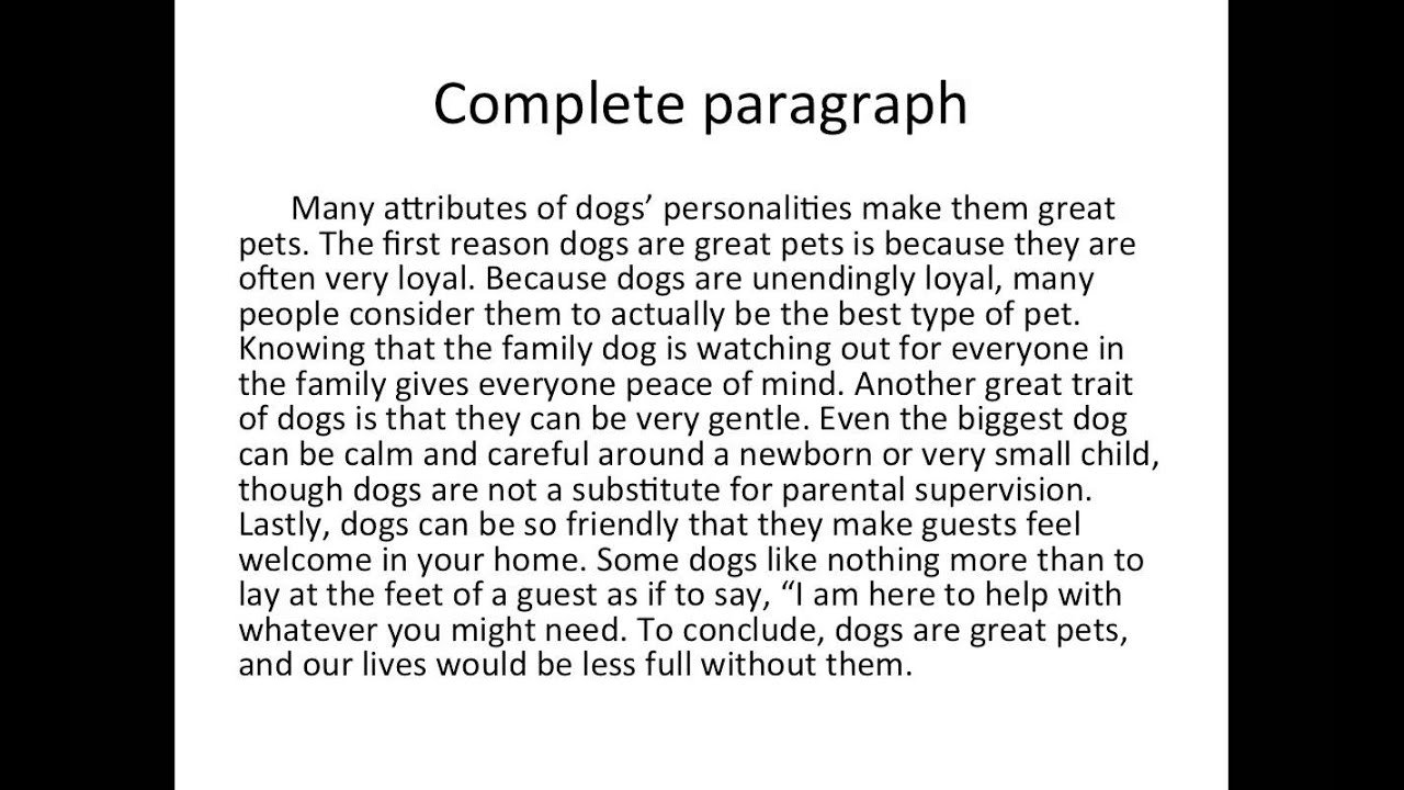 Example of a perfect 5 paragraph essay