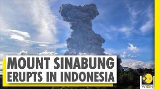 Indonesia's Mt Sinabung Volcano Spews Ash 5km High Into Sky