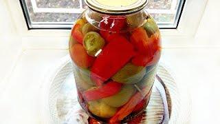 """Зеленые помидоры """"Вкусные"""" на зиму! Рецепт!"""