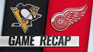 Rasmussen lifts Red Wings past Penguins in OT, 3-2