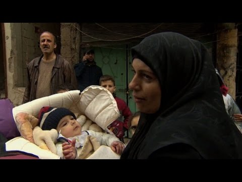 Aleppo mother: 'We barely managed to get out'