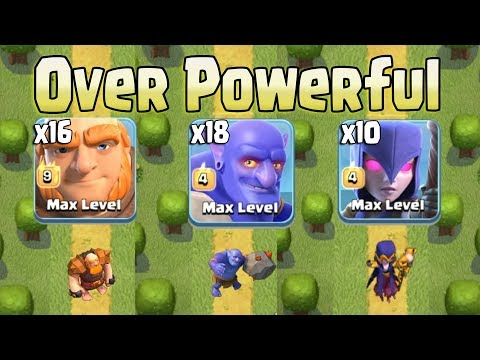 16 Giant + 10 Witch  + 18 Bowler After Update Over Powering 3Star 3 inferno TH12 War Base