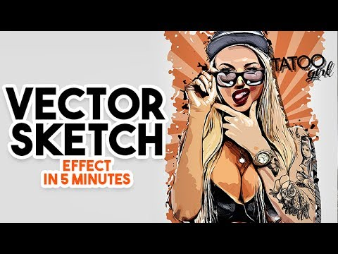 Photo to Vector in Photoshop tutorial