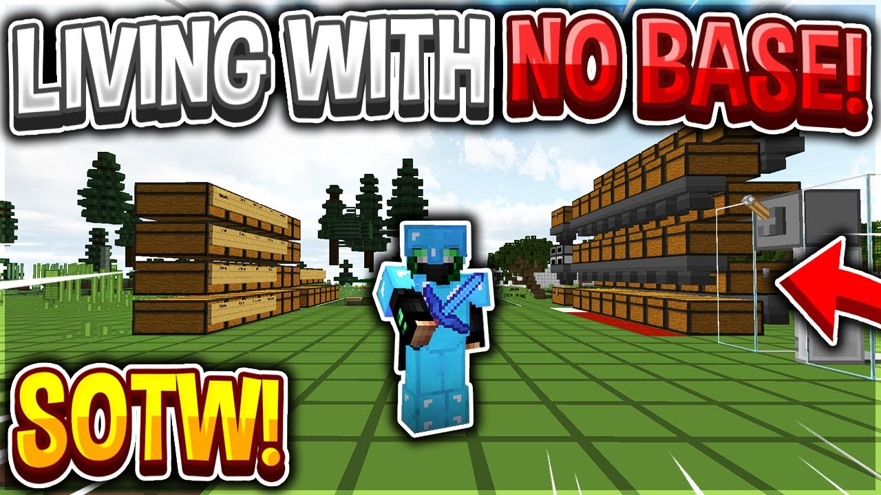 LIVING WITH NO BASE *SOTW* (RANK GIVEAWAY) | Minecraft HCF