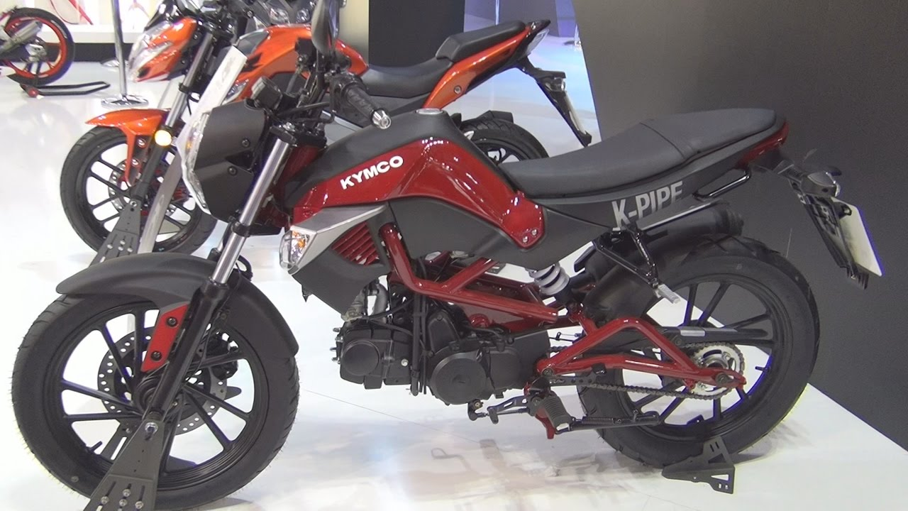 kymco k-pipe 125 (2017) exterior and interior in 3d - youtube
