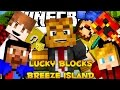 """Minecraft Lucky Blocks Mod Hunger Games """"Breeze Island"""" w/ The Pack (Modded Minigame)"""