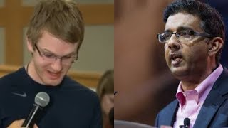 Student Tries To CHALLENGE Dinesh D'Souza's Intelligence, Watch How He Responds