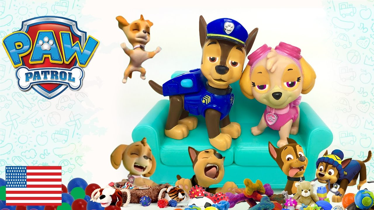 Baby Paw Patrol Makes a Mess Skye and Chase are tired Ryder does a surprise  visit