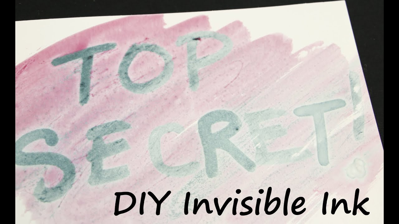 Invisible Ink How To Make Your Own