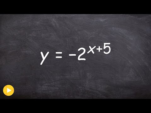 Learn how to graph an exponential function with reflection & horizontal shift