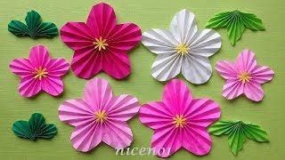 折り紙 梅の花 簡単な折り方 Origami Flower plum tutorial(niceno1) thumbnail