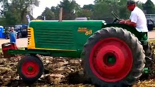Antique Oliver Tractors Plowing