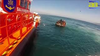 Salvamento Marítimo rescata a 36 inmigrantes en aguas del Mar de Alborán