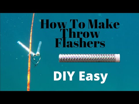 Homemade Spearfishing Flashers - EASY & CHEAP - DIY Throw Flasher And Hanging Flasher