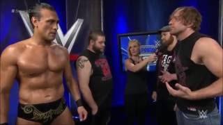 Smackdown 6/2/2016 - Dean Ambrose, Sami Zayn, Kevin  Owens,  Alberto Del  Rio - Backstage Segment