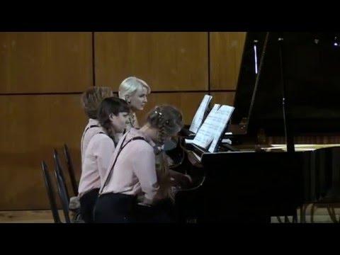 Астор Пьяццолла - Fuga Y Misterio (обработка С.Назарова)(Фортепианный квартет 8 рук) Astor Piazzolla
