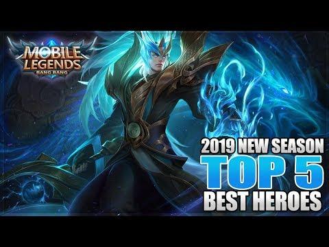 2019 TOP 5 BEST HEROES IN MOBILE LEGENDS BEFORE ESMERALDA