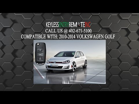 How To Replace Volkswagen Golf Key Fob Battery 2010 2011 2012 2013 2014