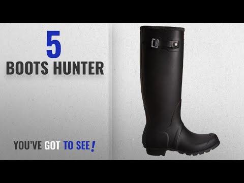 Top 5 Boots Hunter [2018]: Hunter Women's Original Tall Black Rain Boots - 9 B(M) US