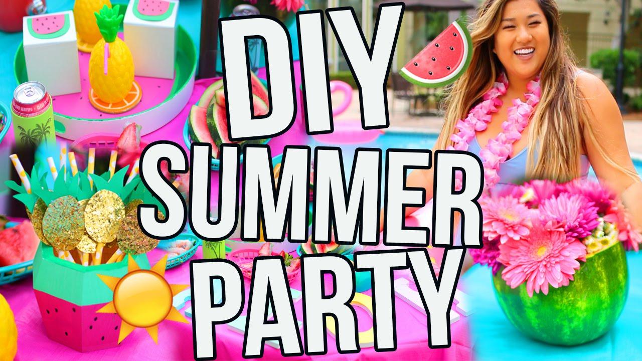 Diy Summer Party Decor Snacks Treats