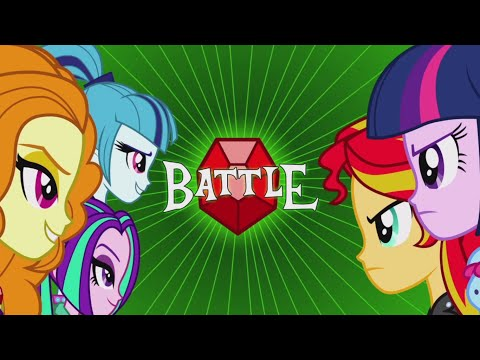 MLP Equestria Girls - Rainbow Rocks 'Battle Of The Bands' Music Video [Extended]
