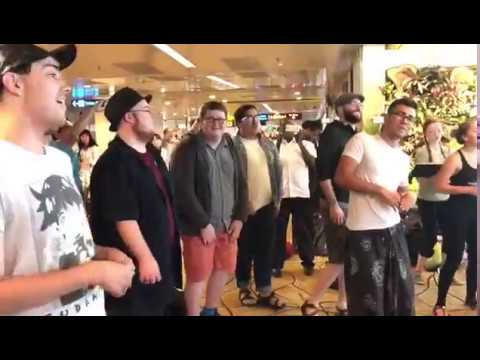 Americans singing Tamil song @Singapore Changi Airport