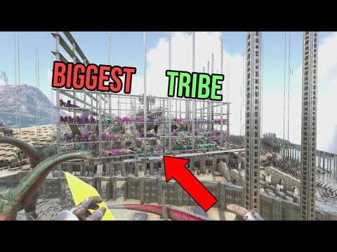 I JOINED THE BIGGEST TRIBE EVER!!! | Ark Official Small Tribes PvP