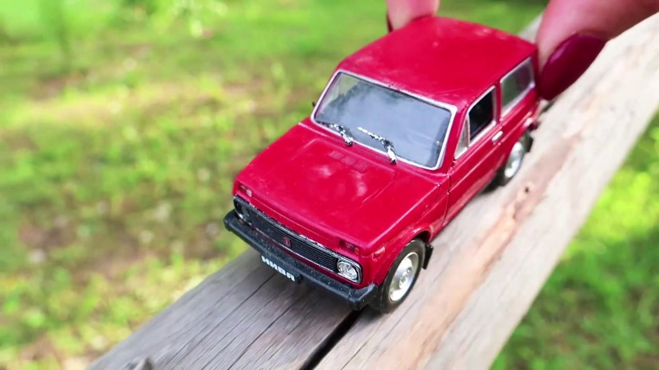 Мультик про игрушечную машинку. Путешествие машинки по лесу и испытания
