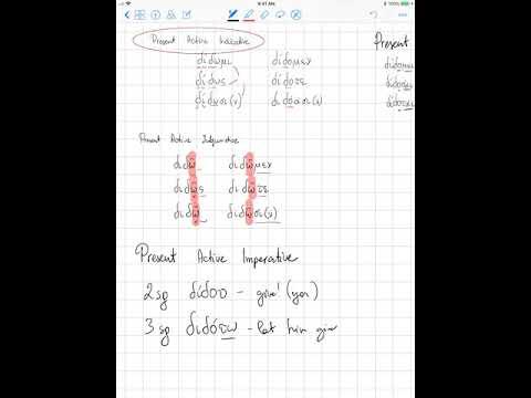 Greek Mi Verbs In Present, Imperfect, Aorist, Future, And Perfect Tenses