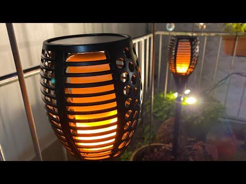 XZN Solar Lights Outdoor Solar Garden Lights Pathway Light Outdoor deco Unboxing and instructions